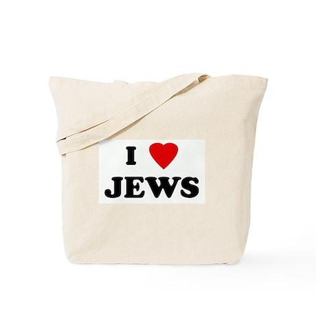 I Love JEWS Tote Bag