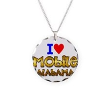 I Love Mobile Alabama 2 Necklace