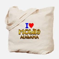 I Love Mobile Alabama 2 Tote Bag