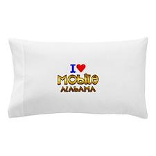 I Love Mobile Alabama 2 Pillow Case