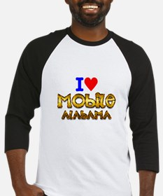 I Love Mobile Alabama 2 Baseball Jersey