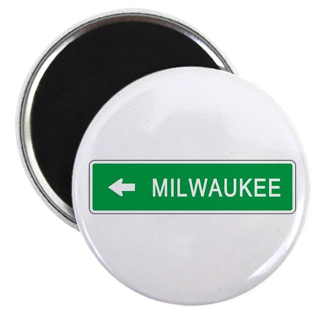 Roadmarker Milwaukee (WI) Magnet By Worldofsigns