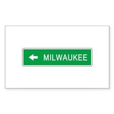 Roadmarker Milwaukee (WI) Rectangle Decal