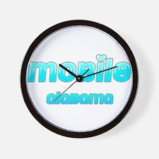 Mobile, Alabama 1 Wall Clock