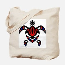 Tribal Colorful Sea Turtle Tote Bag