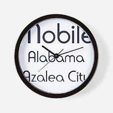 Mobile, Alabama - Azalea City 1 Wall Clock