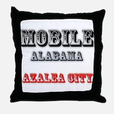Mobile Alabama Azalea City 2 Throw Pillow