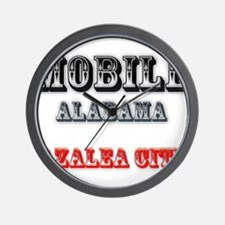 Mobile Alabama Azalea City 2 Wall Clock