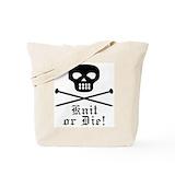 Knit or die Canvas Bags