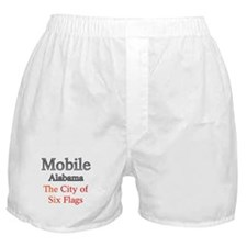 Mobile, Alabama - The City of Six Flags 1 Boxer Sh