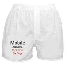 Mobile, Alabama - The City of Six Flags 2 Boxer Sh