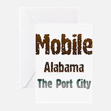 Mobile, Alabama - The Port City 1 Greeting Cards