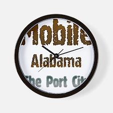 Mobile, Alabama - The Port City 1 Wall Clock