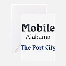 Mobile, Alabama - The Port City Greeting Cards