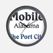 Mobile, Alabama - The Port City Wall Clock