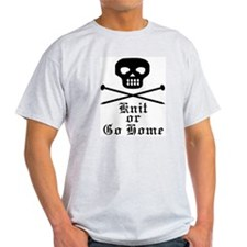 Knit or Go Home Ash Grey T-Shirt