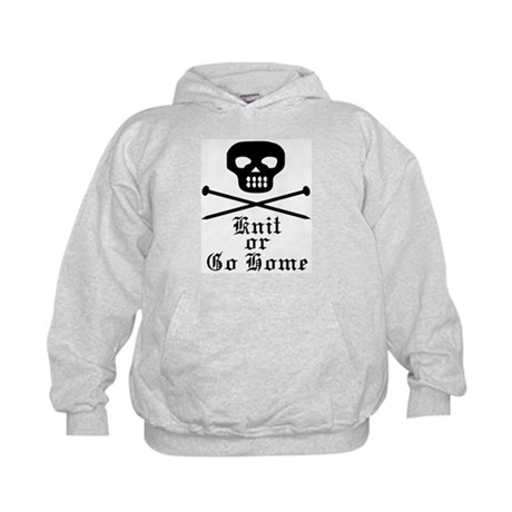 Knit or Go Home Kids Hoodie