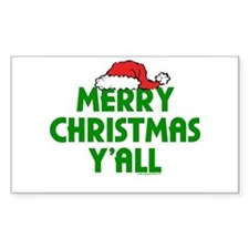 Merry Christmas Y'all Rectangle Decal
