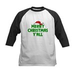 Merry Christmas Y'all Kids Baseball Jersey
