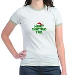 Merry Christmas Y'all Jr. Ringer T-Shirt