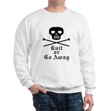 Knit or Go Away Sweatshirt