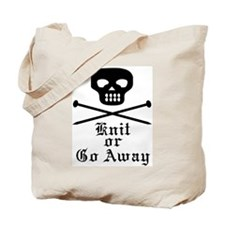 Knit or Go Away Tote Bag