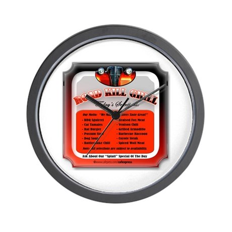 """Road Kill Menu!"" Wall Clock"