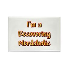 Recovering Nerdaholic Rectangle Magnet