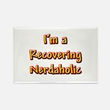 Recovering Nerdaholic Rectangle Magnet