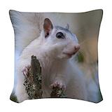 White squirrel Woven Pillows