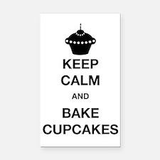 Keep Calm and Bake Cupcakes Rectangle Car Magnet