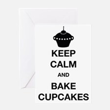 Keep Calm and Bake Cupcakes Greeting Card