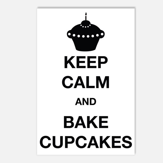 Keep Calm and Bake Cupcak Postcards (Package of 8)