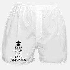 Keep Calm and Bake Cupcakes Boxer Shorts
