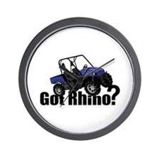 Got Rhino? Blue Wall Clock