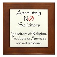 Cute Solicitors Framed Tile