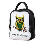 Owl of Mischief Neoprene Lunch Bag
