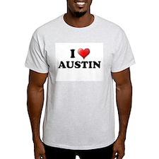 I LOVE AUSTIN SHIRT T-SHIRT A Ash Grey T-Shirt
