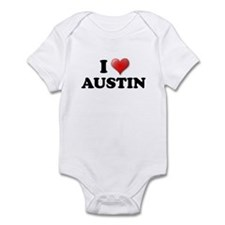 I LOVE AUSTIN SHIRT T-SHIRT A Infant Bodysuit