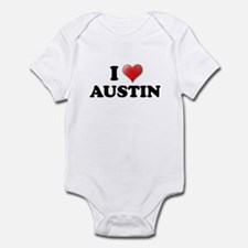 I LOVE AUSTIN SHIRT T-SHIRT A Infant Bodysuit