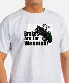 Brakes are for Weenies! Ash Grey T-Shirt
