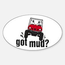 Got Mud? Red Rhino Oval Decal