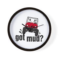 Got Mud? Red Rhino Wall Clock