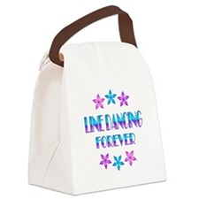 Line Dancing Forever Canvas Lunch Bag