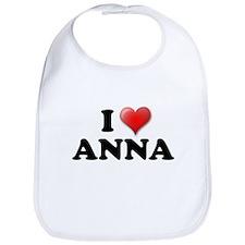 I LOVE ANNA SHIRT T-SHIRT ANN Bib