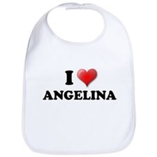 I LOVE ANGELINA SHIRT T-SHIRT Bib