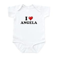 I LOVE ANGELA SHIRT T-SHIRT A Infant Bodysuit