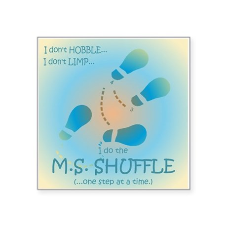 "MS Shuffle Square Sticker 3"" x 3"""
