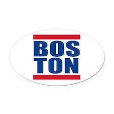Boston Pride Oval Car Magnet