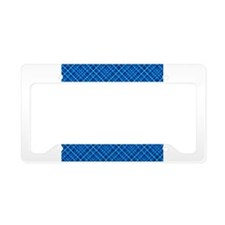 Blue Tartan License Plate Holder